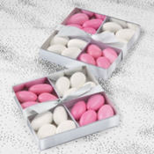 Silver Wedding Favor Compartment Box Kit 20ct
