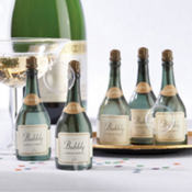 Champagne Wedding Bubbles Favor 12ct