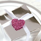 Glitter Heart Favor Tags 8ct