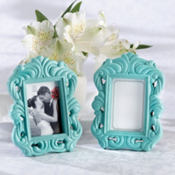 Robin's Egg Blue Baroque Frame Wedding Favor