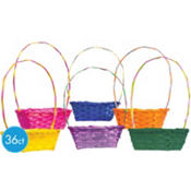Small Bamboo Easter Baskets 36ct