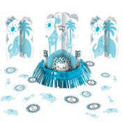 Blue Safari Baby Shower Table Decorating Kit 23pc