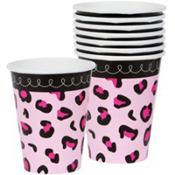 Pink Safari Baby Shower Cups 18ct