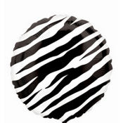 Foil Zebra Balloon 18in