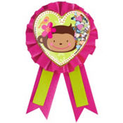 Monkey Love Award Ribbon 5 1/2in