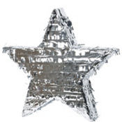 Silver Foil Star Pinata 18in