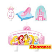 Disney Princess 1st Birthday Candles 4ct