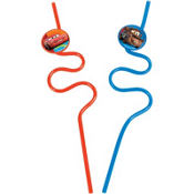 Cars Krazy Straws 2ct