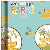 Baby Lion King Baby Shower Gift Wrap 8ft