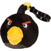 Black Angry Birds Backpack Clip