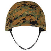 Soldier Helmet with Camo Print Cover