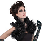 Gothic Ruffled Shrug