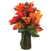 Fall Leaf Leaf Bouquet 12in