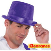 Velour Purple Top Hat