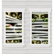 Peeping Zombie Window Magic Decorations 33 1/2in x 65in 2pc