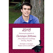 Burgundy Congrats Grad Custom Photo Announcement