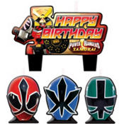 Samurai Power Rangers Birthday Candles