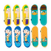 Phineas and Ferb Mini Skateboards 10ct