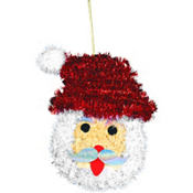 Tinsel Santa Wreath 13in