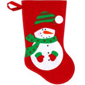 Snowman Christmas Stocking 15in