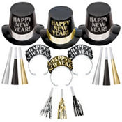 Midnight Elegance New Years Party Kit For 10