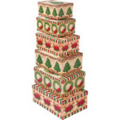 Poinsettia Large Nesting Boxes 6ct