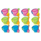 Pail and Shovel Cutouts 10 1/2in 12ct
