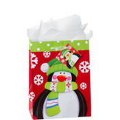 Medium Christmas Penguin Gift Bags 9in 12ct