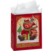 Large Glitter Teddy Bear Gift Bags 12 1/4in 8ct