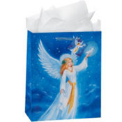 Large Christmas Angel Gift Bags 12 1/4in 8ct
