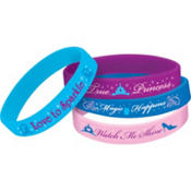 Rubber Cinderella Wristbands 4ct