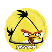 Foil Angry Birds Yellow Bird Balloon 18in