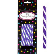 Purple Candy Sticks 25pc