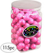 Bright Pink Gumballs 115pc