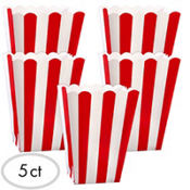 Red Popcorn Favor Boxes 5ct