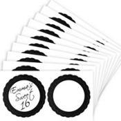 Black Favor Sticker Labels 20ct