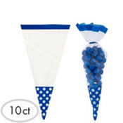 Royal Blue Cone Favor Bags 10ct