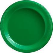Festive Green Plastic Dinner Plates 20ct