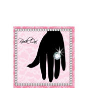 Sassy and Sweet Rock On Beverage Napkins 16ct