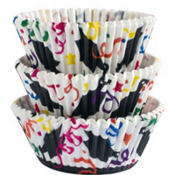 Colorful Graduation Baking Cups 75ct