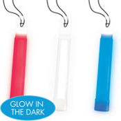 Red, White & Blue Glow Stick Necklaces 3ct