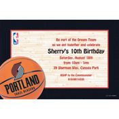 Portland Trail Blazers Custom Invitation