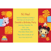 Ni Hao Kai-Lan Custom Invitation