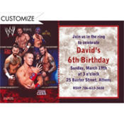 WWE Custom Invitation
