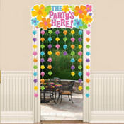 Hibiscus Door Curtain 54in