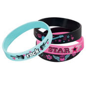 Rocker Princess Bracelet Rubber Favors 4ct