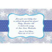 Stylish Snowflake Border Custom Invitation