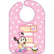 1st Birthday Minnie Mouse Bib