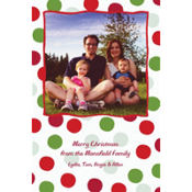 Pert Polkadots Custom Photo Card