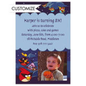 Angry Birds Space Custom Photo Invitation